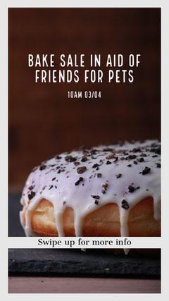 Bake Sale Instagram Story Donut