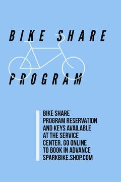 Blue Bike Sharing Government Program Flyer Bike