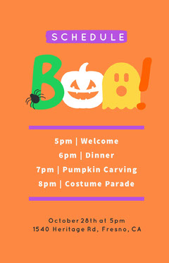 Boo Costume Halloween Party Schedule Halloween Party Schedule