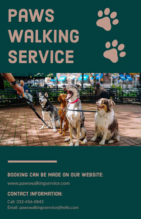 Dog Walking Service Flyer Flyer