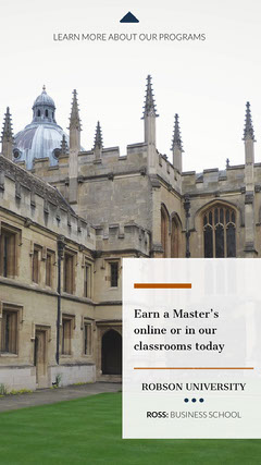 earn your masters degree ad instagram story  Education