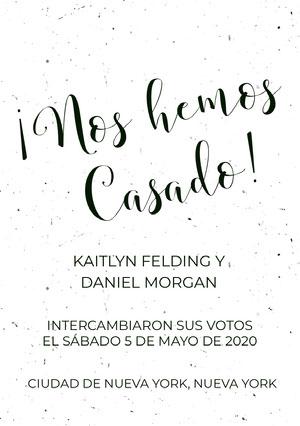 white textured wedding announcements  Anuncio de boda