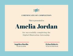 digital illustration internship certificate  Frame