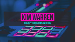 Music Production Youtube Channel Art Neon