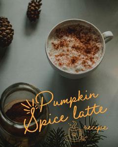brown white pumpkin spice latte recipe instagram portrait  Coffee