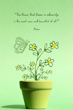 monochromatic green quote pinterest  Leaf