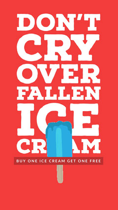 Red, White and Blue Bogo Ice Cream Ad Instagram Story Ice Cream Social Flyer