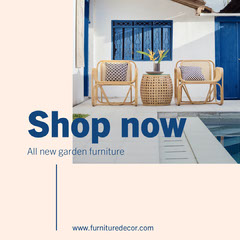 Pink Navy Garden Furniture Instagram Square  Furniture Sale