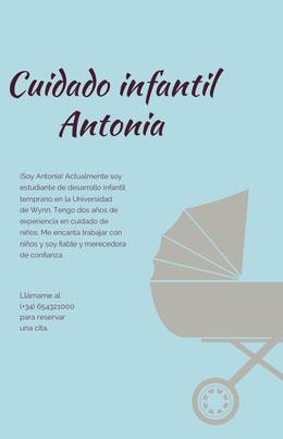 Cuidado infantil Antonia Octavilla