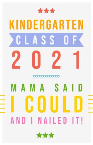 2021 Cartão de graduação