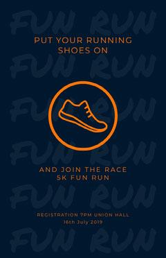 Orange and Navy Blue Shoe Flyer Shoes