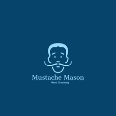 Blue Toned Mens Grooming Logo Instagram Post Barber