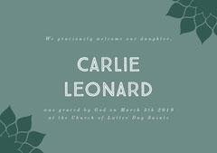Carlie Leonard Baptism
