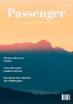 Orange Sunset Photo Travel Magazine Cover  Sunset