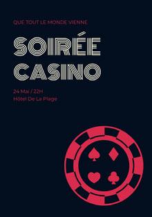 Soirée Casino Invitation