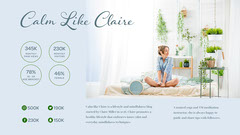 Blue Calm Like Claire Influencer Media Kit Widescreen Blogger