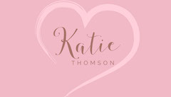 Pink Heart Wedding Table Place Card Heart