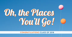 Blue Congratulations to Graduates Instagram Graphic with Balloons Balloon