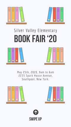 Illustrated Elementary School Book Fair Instagram Story Fairs