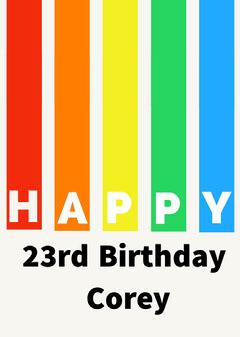 birthday card for neutral  Rainbow