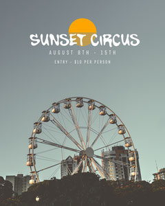 Ferris Wheel at Sunset Photo Circus Instagram Portrait Ad Circus