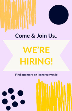 Pink and Yellow Graphic Designer Open Position Job Flyer Job Poster