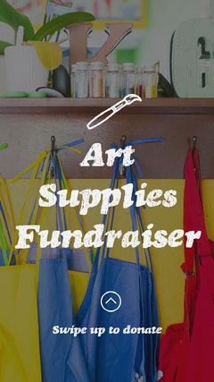 Art Supplies Fundraiser Instagram Story  Fundraiser