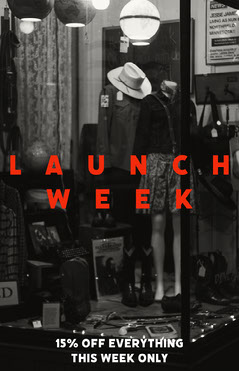 Black and Red Launch Week Poster Sale Flyer