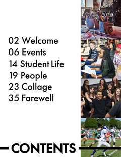Simple Yearbook Table of Contents Farewell