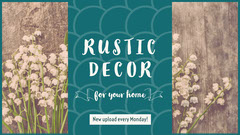 Blue With White Flowers Rustic Decor Youtube Tutorial Decor