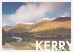 Kerry Ireland Postcard with Lake Landscape Photo Lake