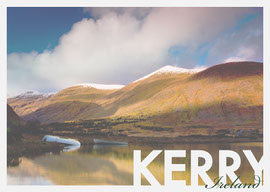 Kerry Ireland Postcard with Lake Landscape Photo Ansichtkaart