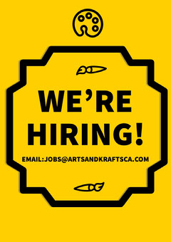 Yellow Art and Craft Open Position Job Flyer Job Poster