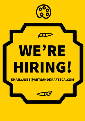 Yellow Art and Craft Open Position Job Flyer Kunstplakat