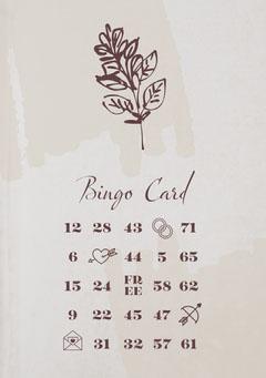 Valentine's Day Dinner Party Bingo Card Valentine's Day