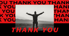 Red Thank You Instagram Landscape  Thank You Poster