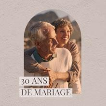 Beige Anniversary Photo Album Cover  Couverture de livre
