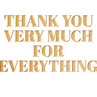 Gold Glitter Thank You Card Thank You Messages