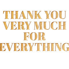 Gold Glitter Thank You Card Gold