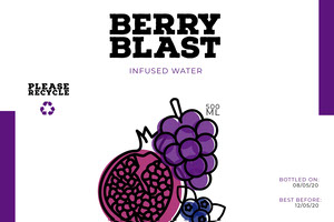 Purple Infused Water Bottle Label Water Bottle Label