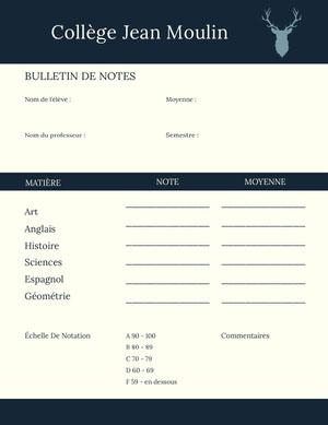 middle school report cards Bulletin de notes