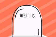 Orange Striped Gravestone Halloween Party Name Tag Halloween Party Name Tag