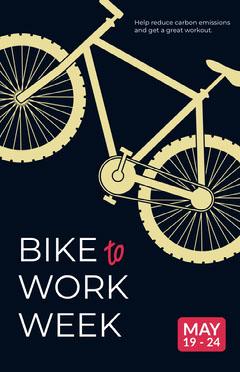 Yellow and Black Bike Poster Bike