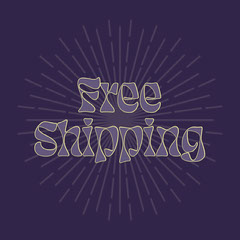 free shipping instagram Typography