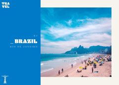 Rio de Janeiro Brazil Postcard  Beach