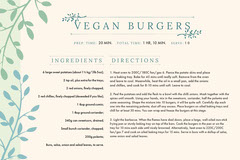 Vegan Burgers Recipe Card Burger