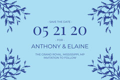 Blue Save The Date Social Post Christmas Invitation