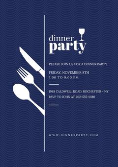 Dinner Party Flyer Dinner Menu