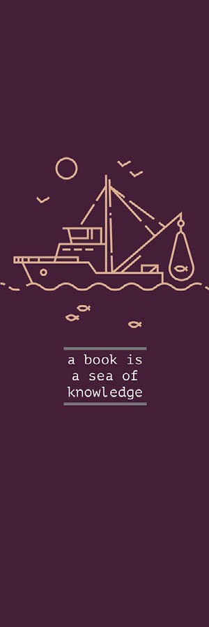 a book is a sea of knowledge  Marcapáginas