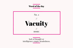 Pink Frame English Word of the Day Flashcard Frame